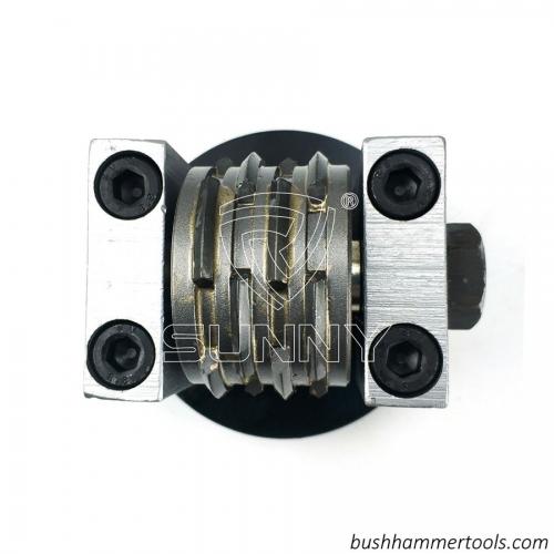 Husqvarna Redi Lock Bush Hammer Plate For Creating Medium Comma Bush Hammered Profile