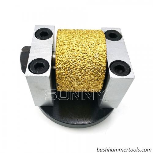 Husqvarna Redi Lock Vacuum Brazed Diamond Bush Hammer Roller For Sandblast Finish